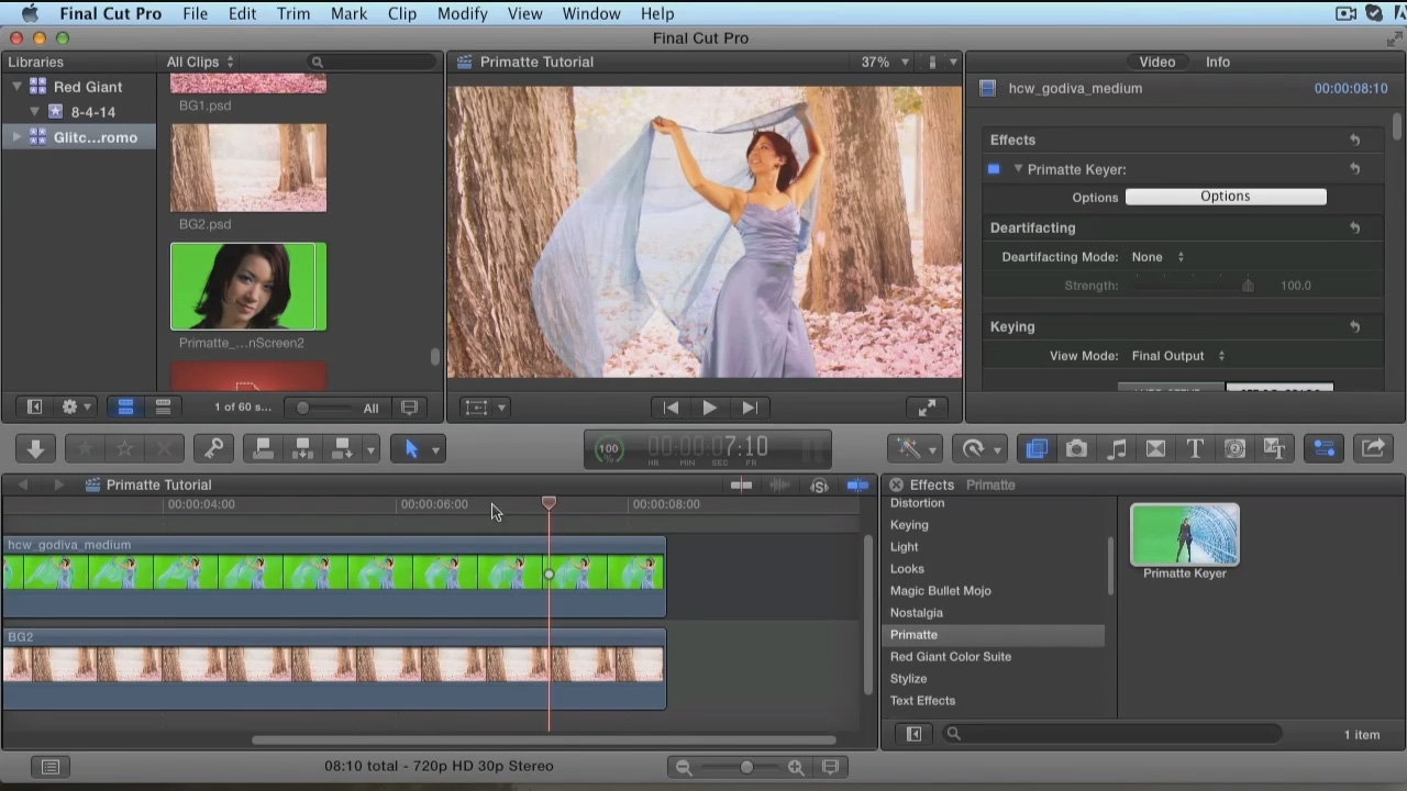 Getting Started with Primatte Keyer in FCP X