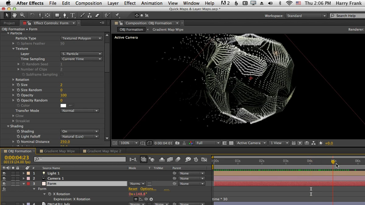 Red Giant | 07 - Getting Started with Trapcode Form: Layer Maps