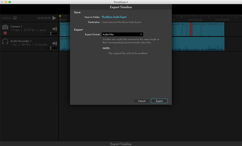 how to only import audio on final cut