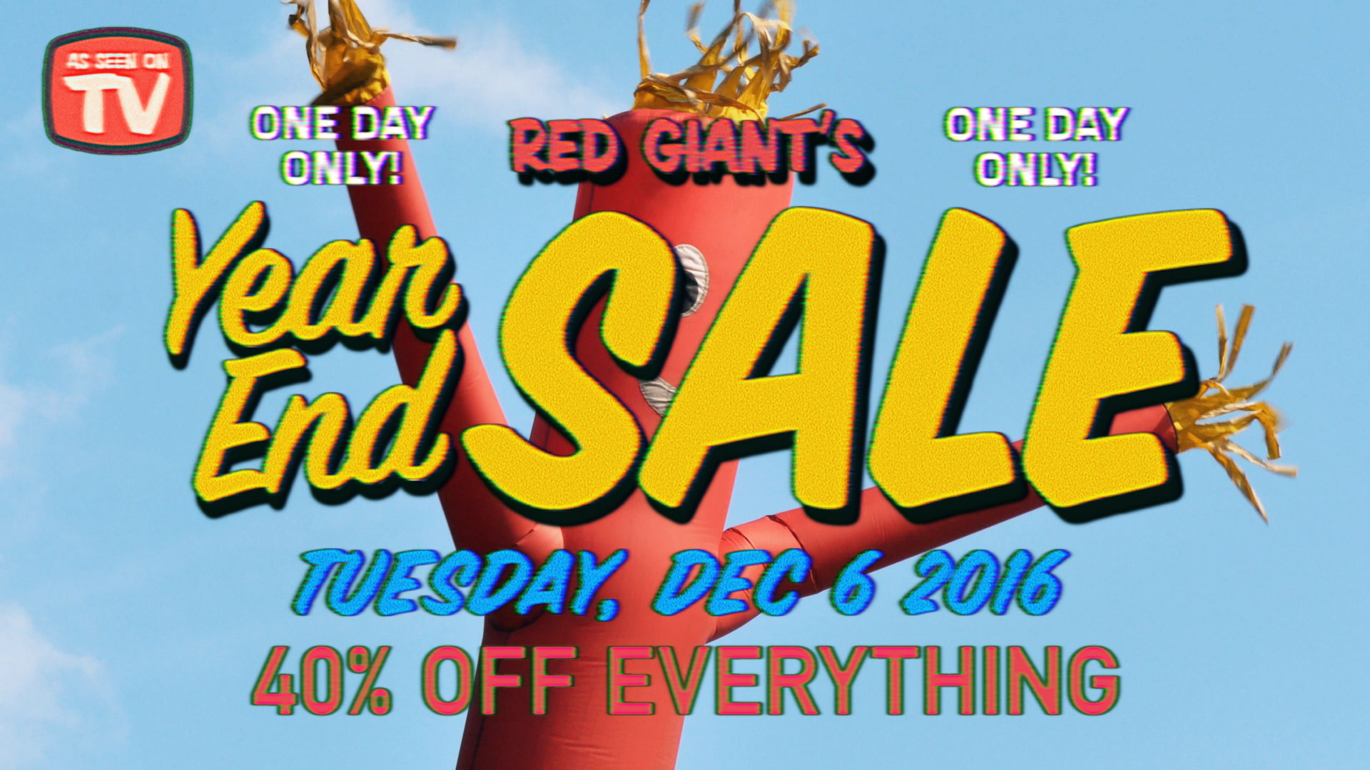 Red Giant Year End Sale - Save 40% Off Everything