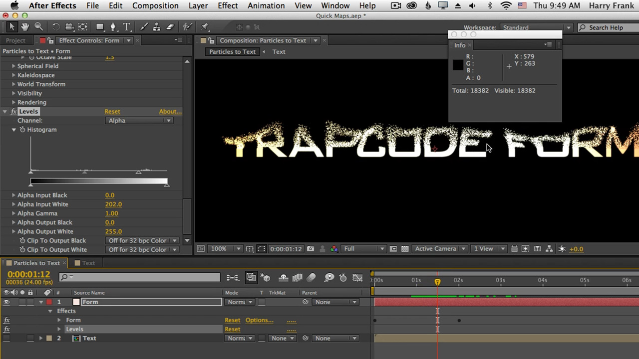 06 - Getting Started with Trapcode Form: Quick Maps