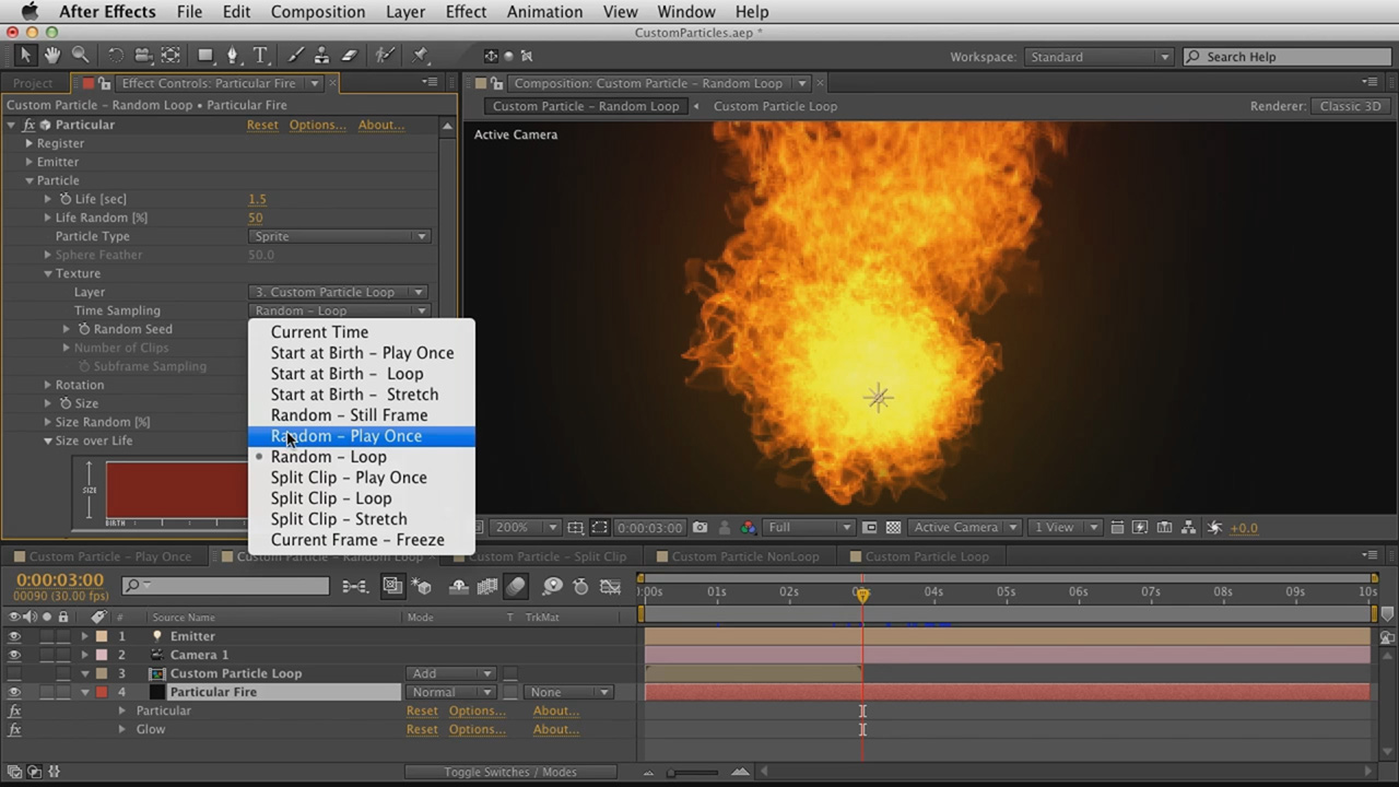 06. Getting Started with Trapcode Particular 2 - Time Sampling