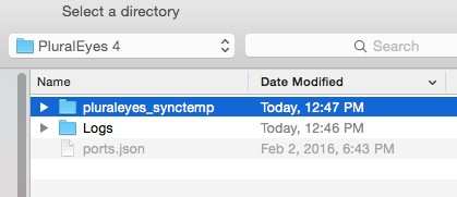 Temp Sync Files Dir