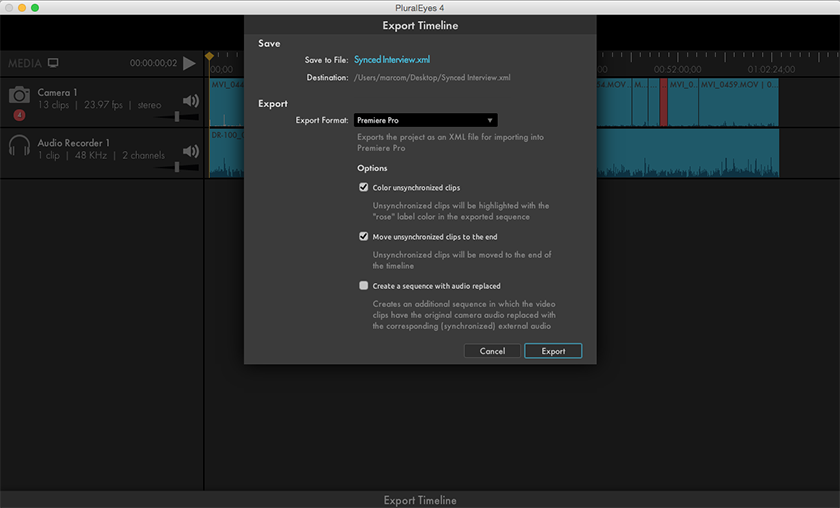 Export to Premiere Pro   Red Giant