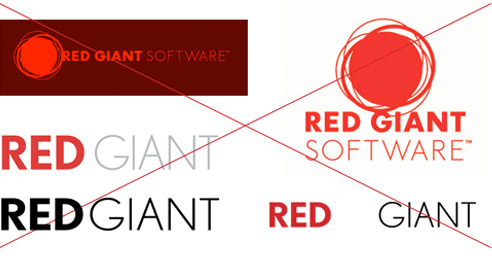 Red Giant Guidelines - Bad Logos
