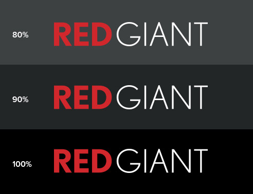 Red Giant Logo Formats - Red and White