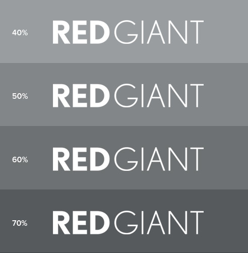 Red Giant Logo Formats - White