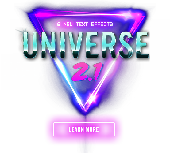 Red Giant Universe 2.1 - Introducing 6 new text effects