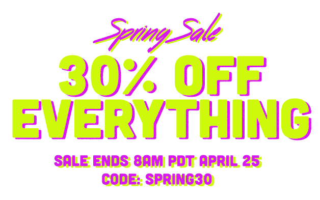 Red Giant Spring Sale - 30% Off Everything