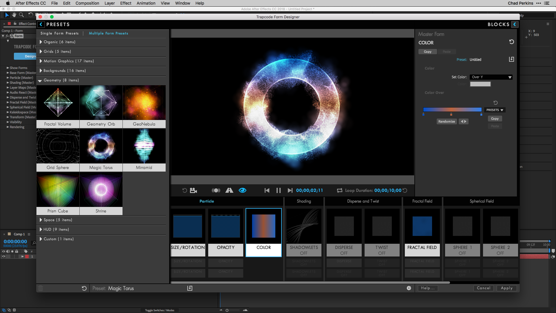 01. Trapcode Form 3 Training - Intro to the Designer