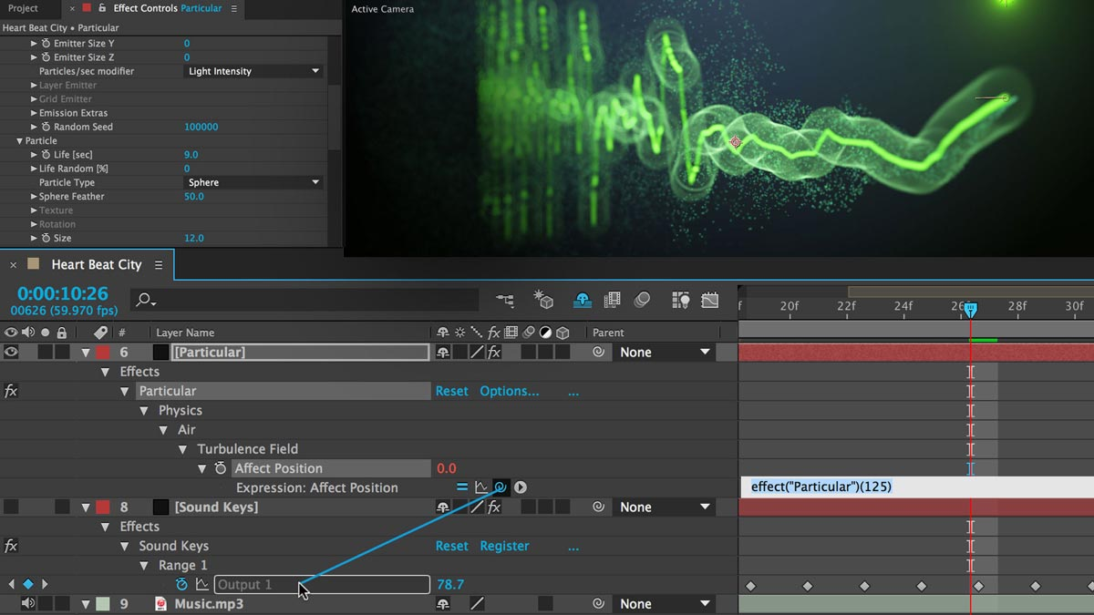 Trapcode Sound Keys - Animation