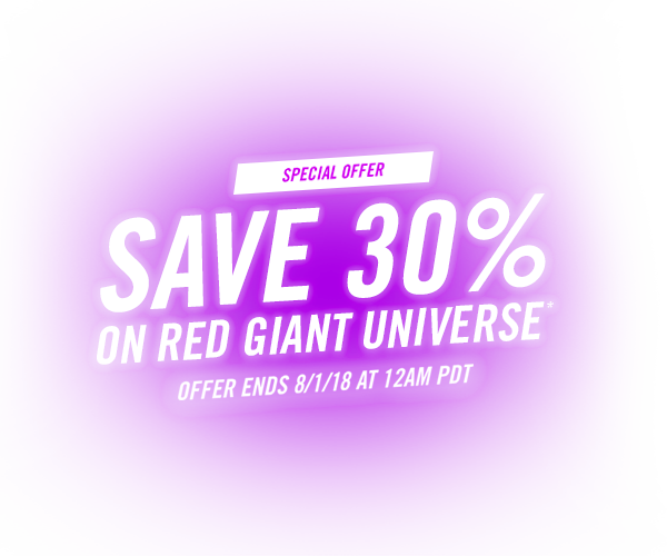 30% Off Red Giant Universe - Introductory Offer