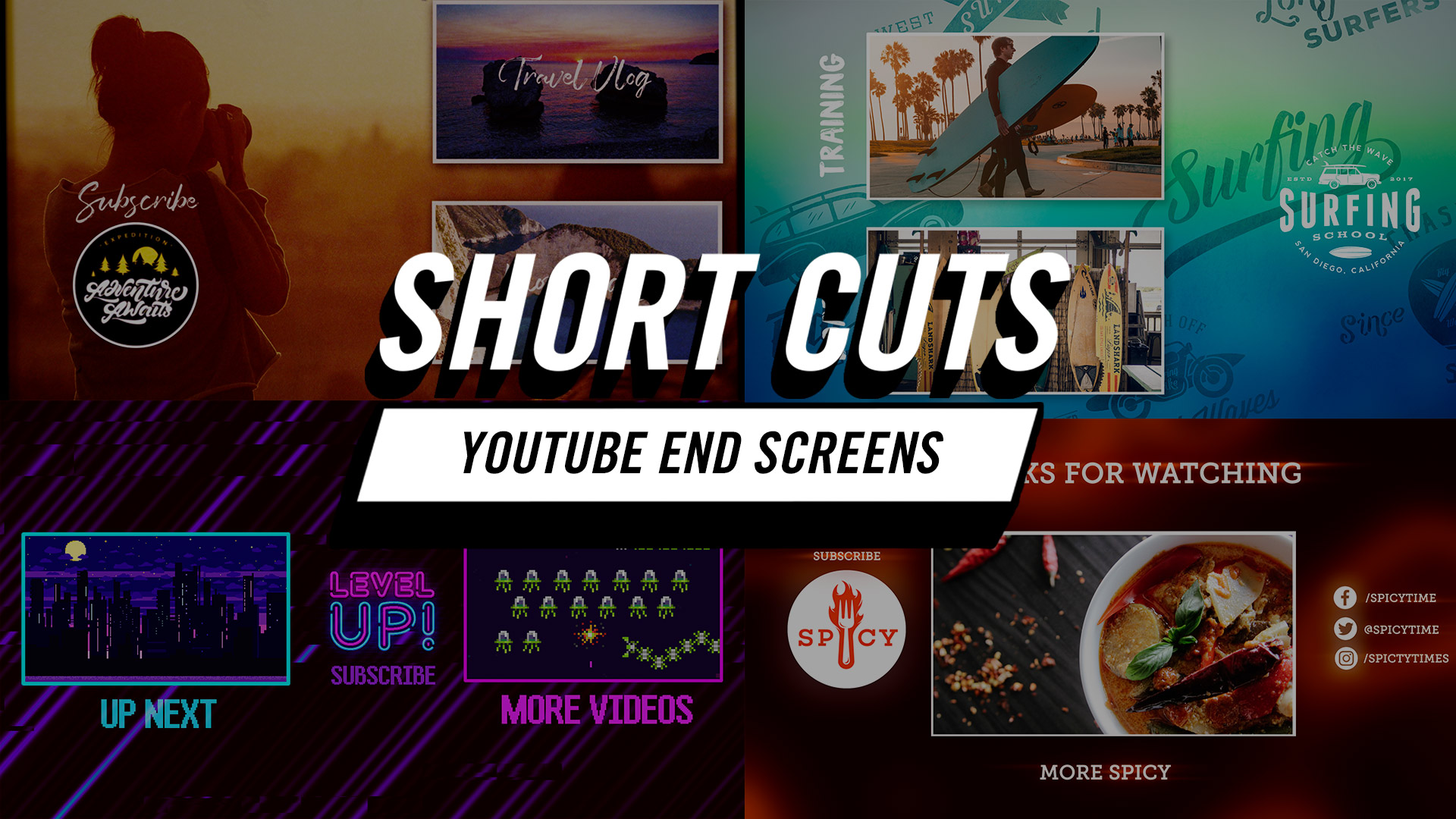 Short Cuts | How to Create Fast YouTube End Screens in Adobe Premiere Pro CC