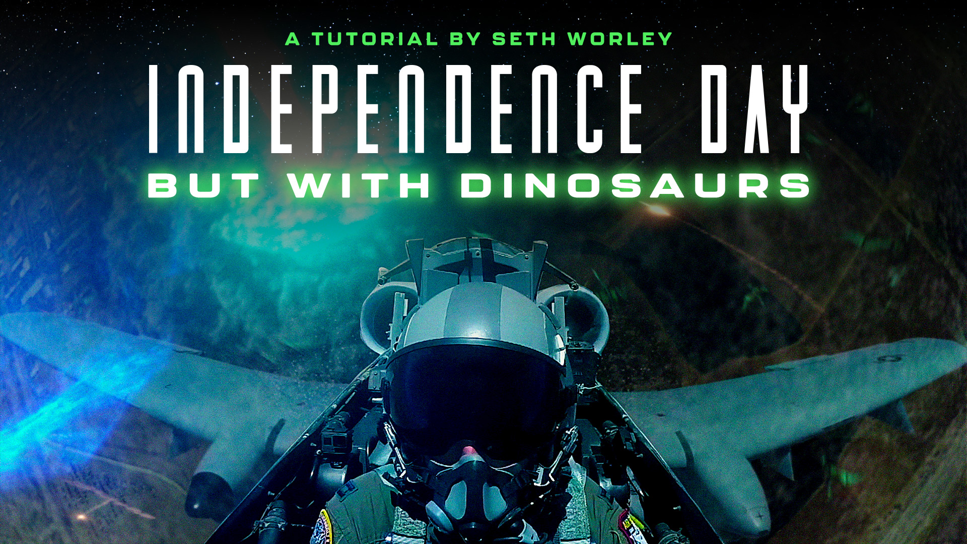 Independence Day VFX but with Dinosaurs Tutorial