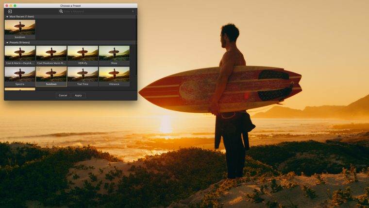Magic Bullet Colorista - Preset Browser
